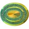 Glitz Sew-on Stone 10pcs Oval 40x50mm Emerald Aurora Borealis